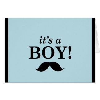 Its a boy - moustache design card
