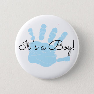 It's a Boy, New Baby Birth Announcement Button