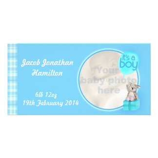 """It's a boy"" newborn baby announcement card Photo Greeting Card"