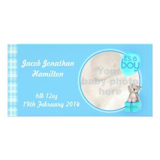 """It's a boy"" newborn baby announcement card Photo Greeting Card"