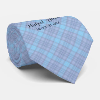 It's A Boy • Proud New Daddy • Blue Plaid Tie