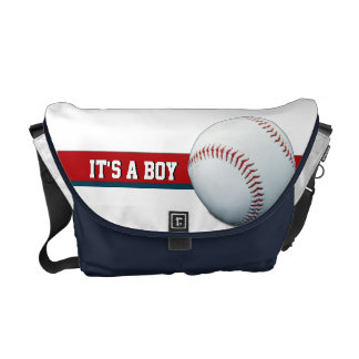 It's A Boy Red, White & Blue Baseball Diaper Bag Courier Bags