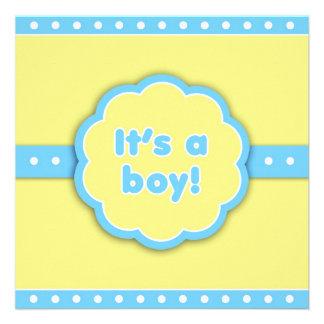 It's a Boy Retro Flat Announcement Card