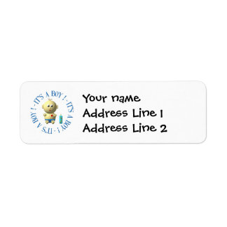 It's a boy! return address label
