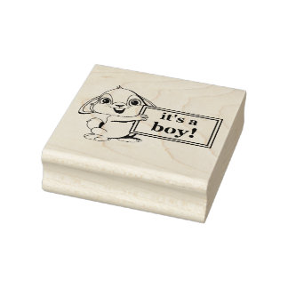 """It's a Boy"" Rubber Stamp"