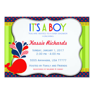 It's a Boy Shower Invite with Envelopes 5x7