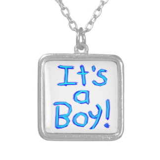 It's a Boy! Silver Plated Necklace