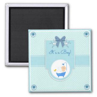 It's a Boy! Square Magnet