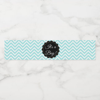 Its a boy  Teal Baby Shower Bottle Labels