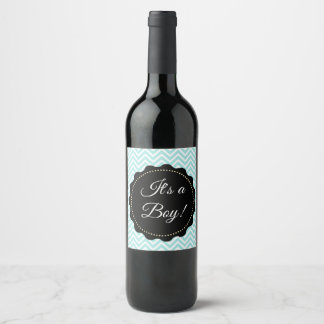 Its a boy  Teal Baby Shower Wine  Bottle Labels