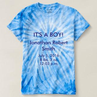 IT'S A BOY! Tye Dyed T Shirt