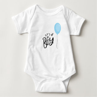 It's A Boy with Blue Balloon Baby Bodysuit