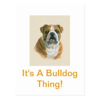 It's A Bulldog Thing! Postcard