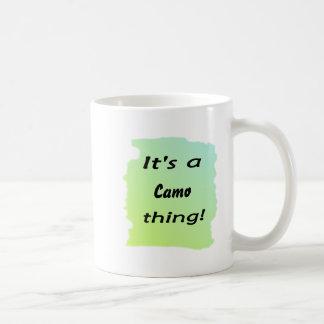 It's a camo thing! coffee mugs