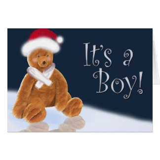 It's a Christmas baby boy Greeting Card