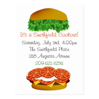 It's a Cookout Invitation Postcard