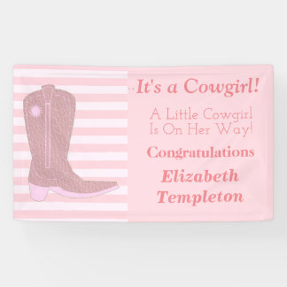 It's a Cowgirl Baby Shower Banner