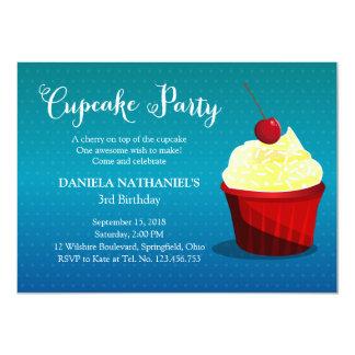 It's A Cupcake Party Custom Invitations