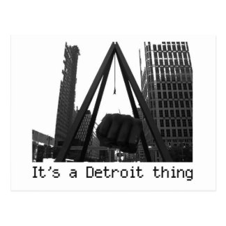 it's a detroit thing postcard