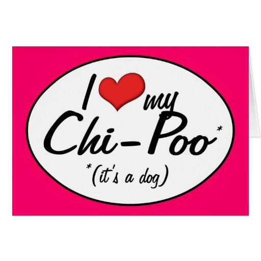 It's a Dog! I Love My Chi-Poo Greeting Card