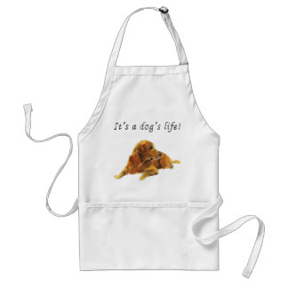 It's a dog's life. Funny Labrador retriever apron Standard Apron