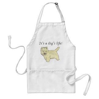 It's a dog's life. Funny Westie dog apron design Standard Apron
