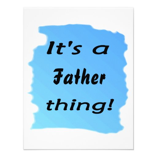 It's a father thing! personalized invite