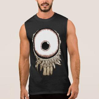 its a freaking eye with teeth sleeveless shirt