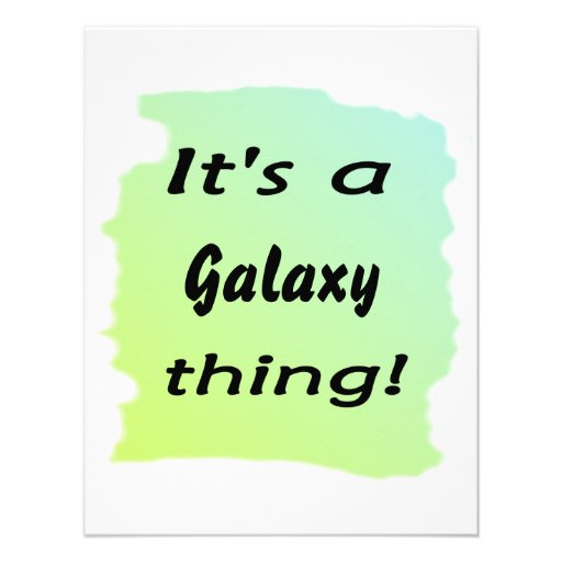 It's a galaxy thing! invitation
