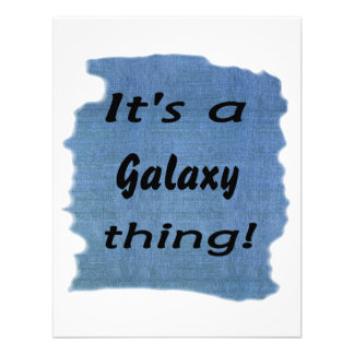 It's a galaxy thing! personalized announcements