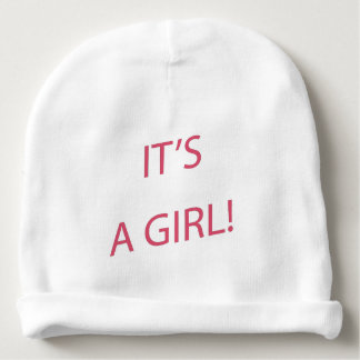 It's a girl baby baby beanie