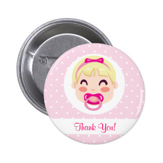 It's a Girl Baby Girl Design 6 Cm Round Badge