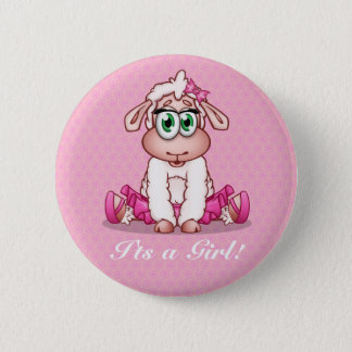 It's a girl! - Baby Shower Button