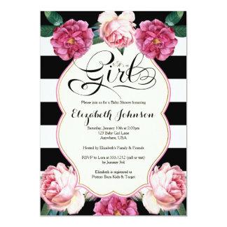 "It's a Girl Baby Shower Invitation 5"" X 7"" Invitation Card"