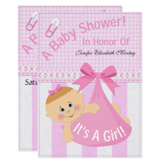 """""""It's A Girl"""" Baby Shower Invite"""
