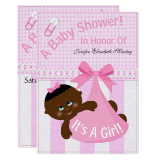 """""""It's A Girl"""" Baby Shower Invite #3"""