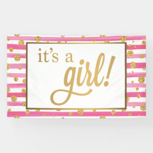 new baby girl indoor outdoor banners zazzle com au