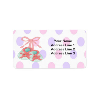 It's a Girl - Booties Baby Shower Address Labels