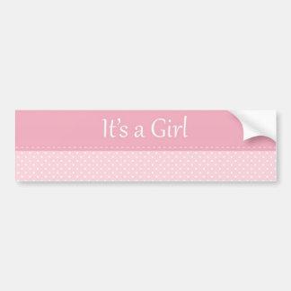 It's A Girl Bumper Sticker