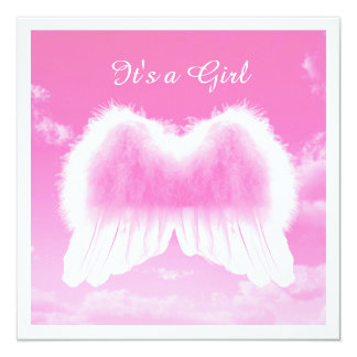 It's a Girl, Flat Card, White Envelope incl. Card