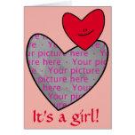 It's a girl! Heart Photo Card