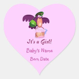 It's a Girl! Heart Sticker