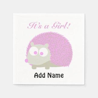 It's a girl! Hedgehog Paper Napkin