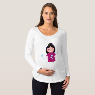 It's a Girl in Kimono Maternity T-Shirt