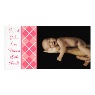 It's A Girl... Our Precious Little Pearl Customised Photo Card