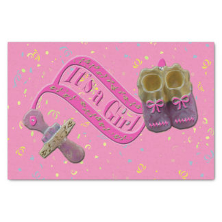 It's a Girl Pacifier Shoes Tissue Paper