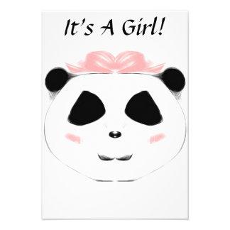 It's A Girl Panda! Personalized Invite