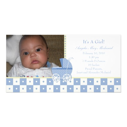 It's A Girl Photo Card