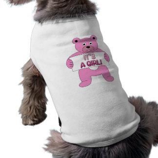 It's A Girl Pink Bear Shirt