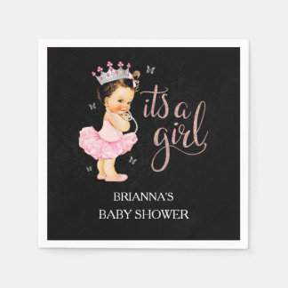 It's a Girl Princess Baby Shower Napkin Disposable Napkins